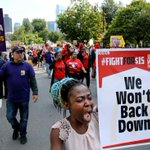 Labor Day protest steps up pressure for $15 minimum wage