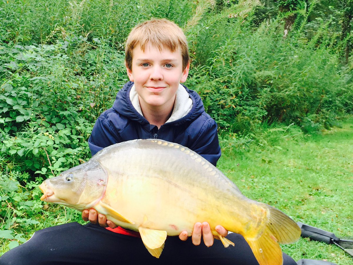 PERSONAL BEST FOR OLLIE - Off the top from the Specimen Carp lake #carpfishing #personalbest https:/