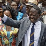 White supporters of Raila Odinga dance to Ohangla song in celebration of Supreme Court ruling