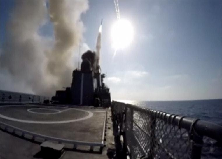 Russian frigate fires cruise missiles at Islamic State targets near Syria's Deir al-Zor