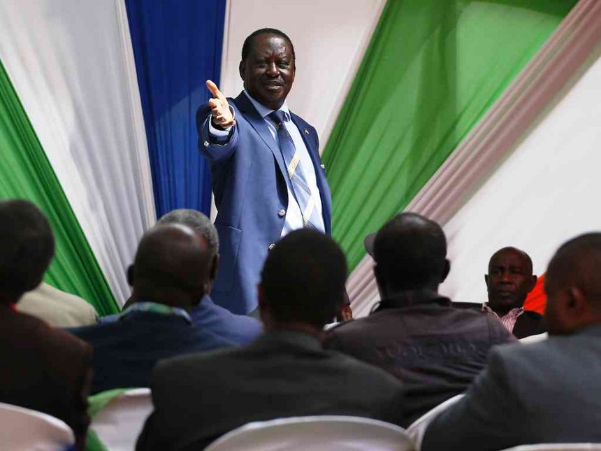 Vote with vengeance for 'thieves' to go home, Raila tells Nyamira