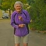 Police sergeant finds 92-year-old Millie dancing in the street on her own because she 'loves to boogie' - so she joins in