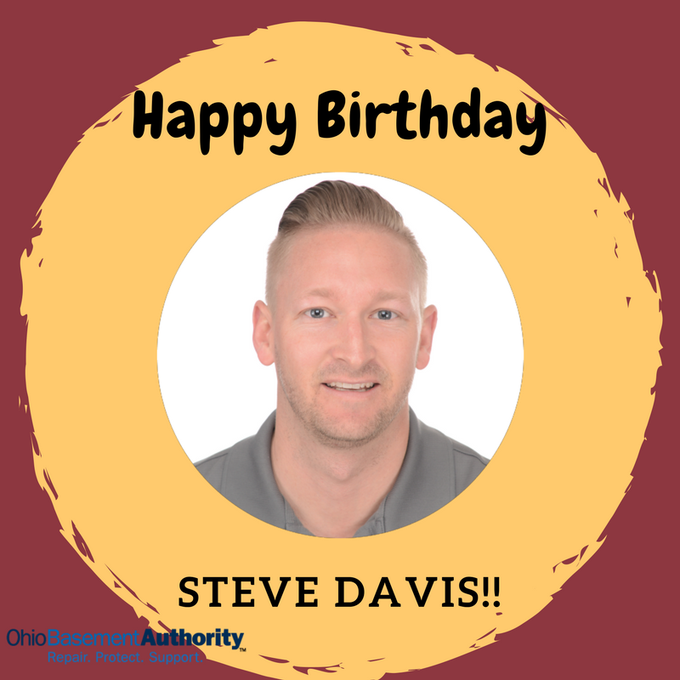 Happy birthday to Inspector Steve Davis ! We hope you have an amazing day!