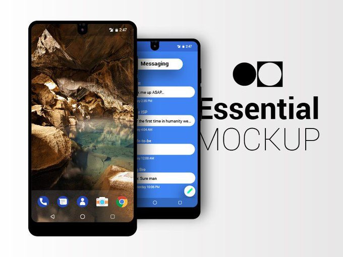 Essential PH-1 Mockup   Mockup by Mahmoud Emad freebie