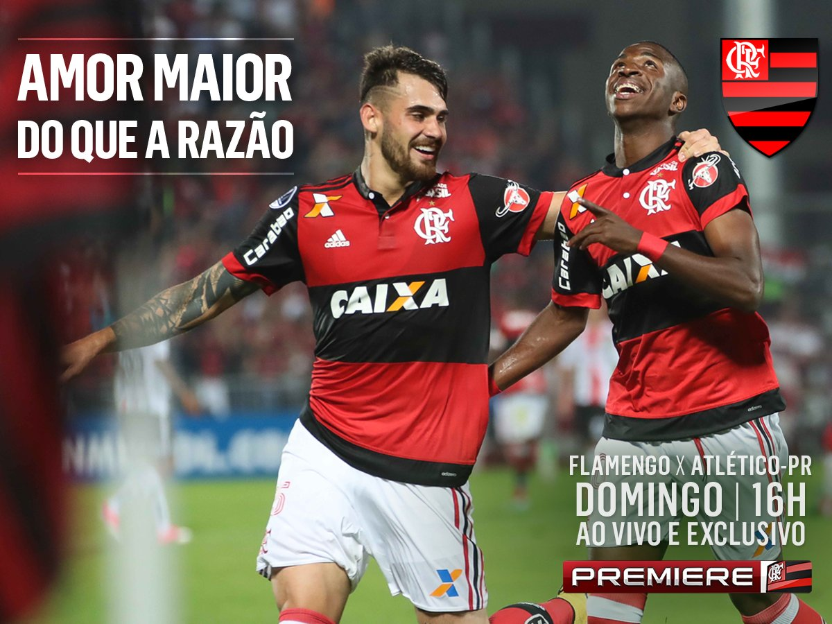 O Flamengo recebe o Atlético-PR. Jogo ao vivo e