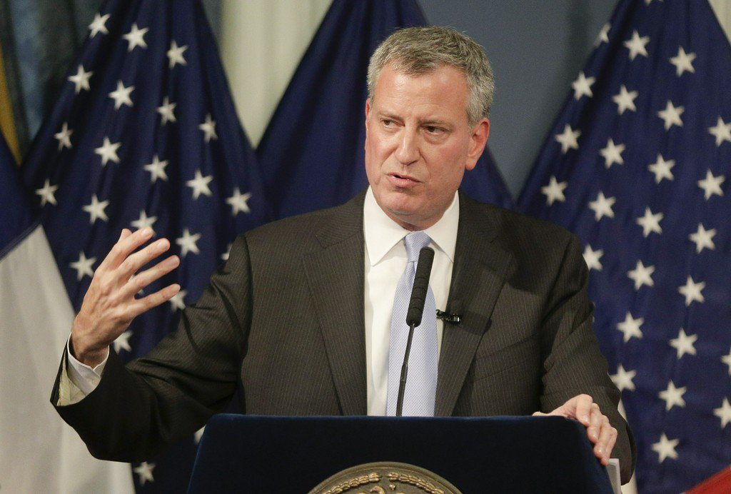 New York City Mayor Bill de Blasio may take down Christopher Columbus statue in Manhattan