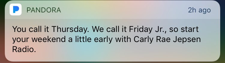 Who calls Thursday 'Friday Jr'? https://t.co/1fLST7EAVi