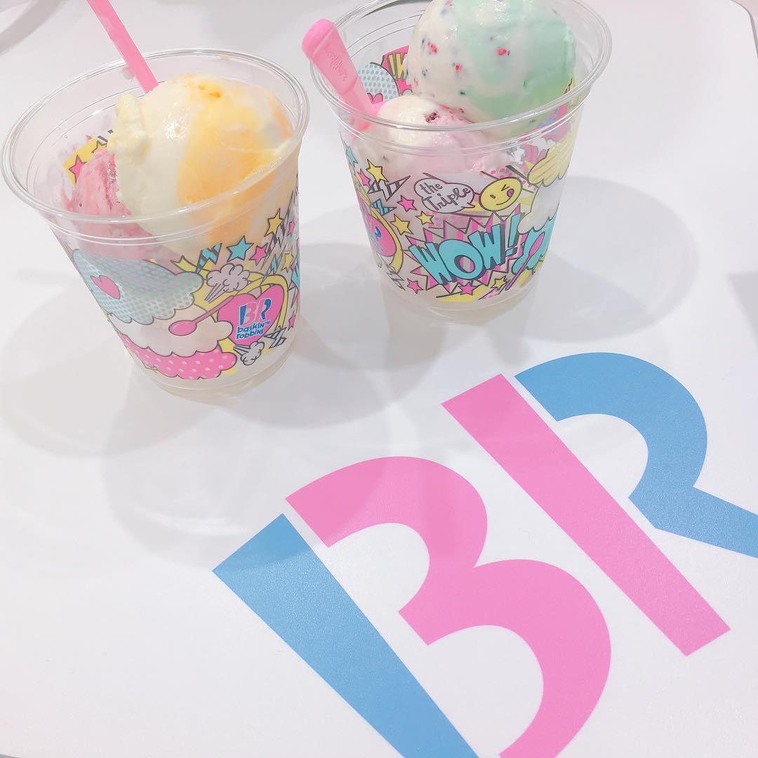 test ツイッターメディア - サーティーワンのカップアイスもデザイン可愛いよね(*´ω`*)  #女の子トレンド #icecream #サーティーワン #キャラメルリボン #ベリーベリーストロベリー #ビーチメローエクストリーム https://t.co/At494F71sM