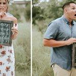 Surprise Pregnancy Announcement Photo Shoot Captures Husband's Sweet Reaction