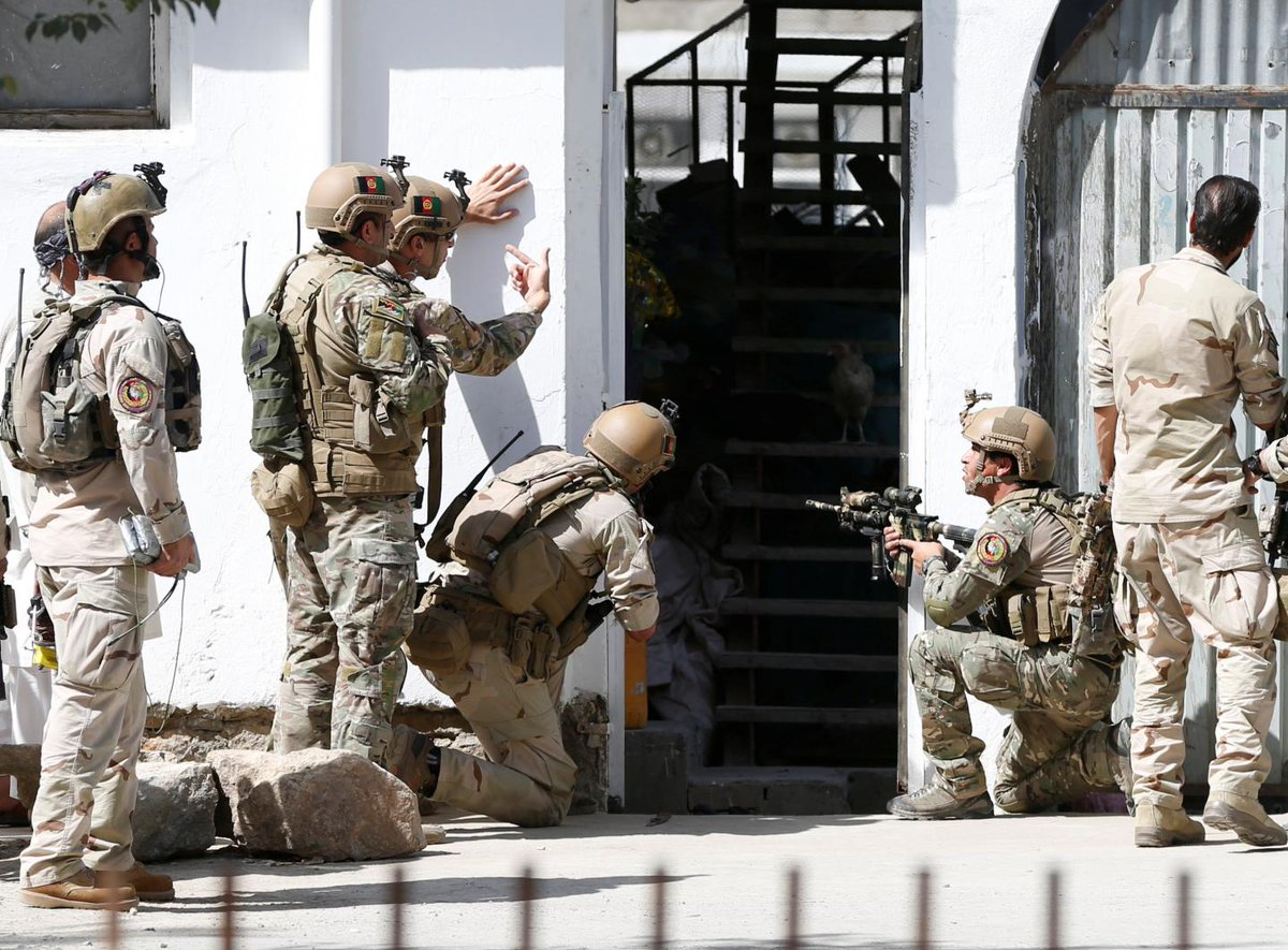 ISIS militants have killed 14 people in an attack on a mosque in Kabul