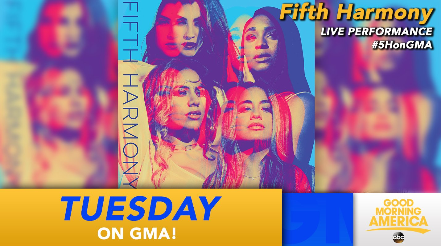 Celebrating the release of our new album TUESDAY with @GMA! Be sure to tune in ��  #5HonGMA https://t.co/8L4YQs0oxl