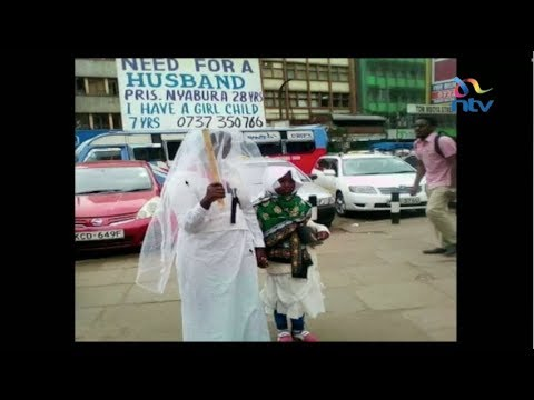 The woman in the wedding dress in Nairobi's streets sparks gender debate