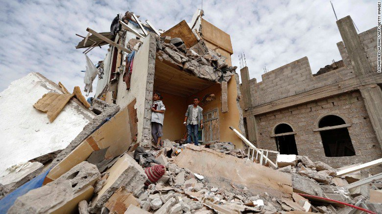 Children among dead after airstrike in Yemen's capital