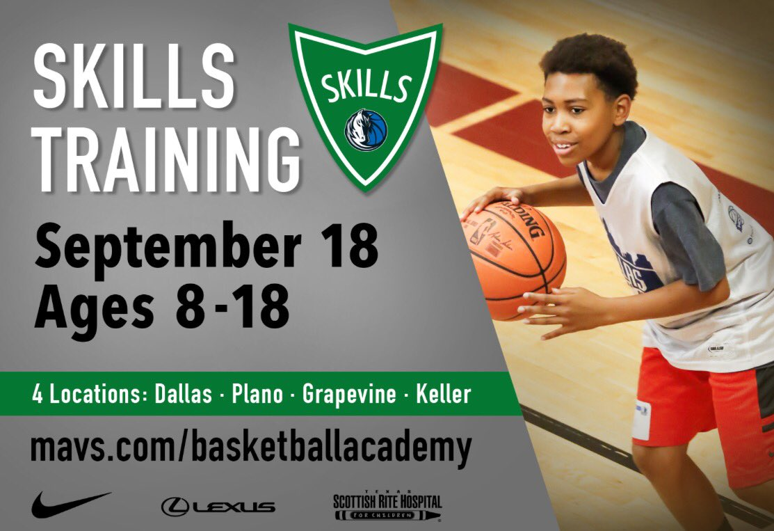 Skills Training is back for the fall! Sign up today at https://t.co/RK0NNn5Sme. #mavsacad #dallasmavs https://t.co/bb69PE384k