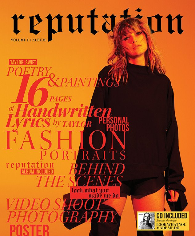 Taylor Swift went high fashion for Reputation collector's edition magazines: