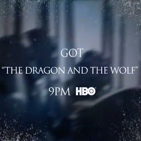 "Tonight. The #GoTS7 finale, ""The Dragon and the Wolf,"" premieres at 9PM on @HBO. #WinterIsHere https://t.co/1ZPpYd5LwU"