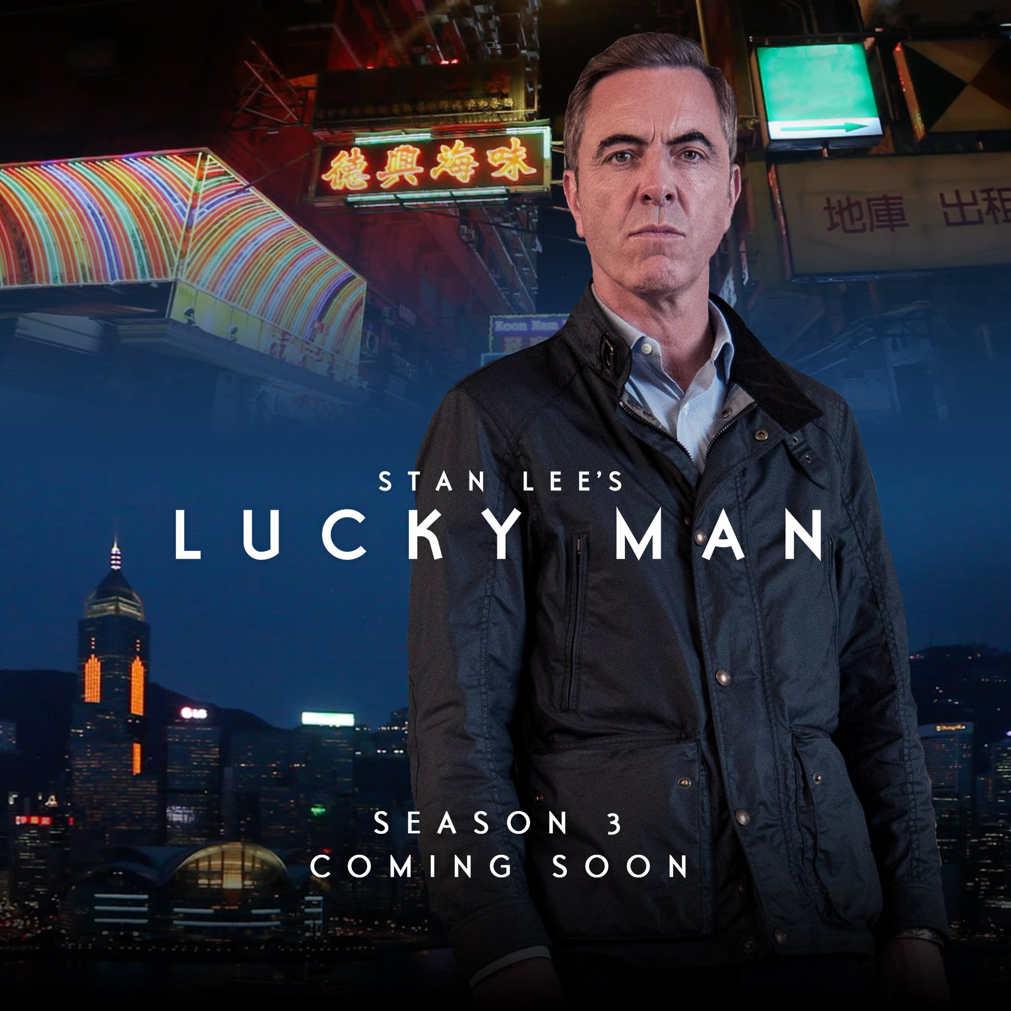 Good news - your luck is in!  Stan Lee's @luckyman season 3 is coming soon to @sky1! https://t.co/7E2uWOwSaV