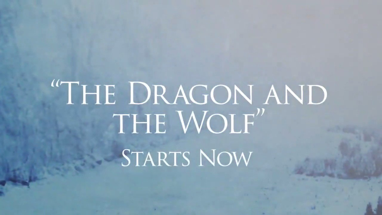 "Quiet in the realm. ""The Dragon and the Wolf"" starts now on @HBO. #GameofThrones #GoTS7 https://t.co/uvDlKa8f8E"