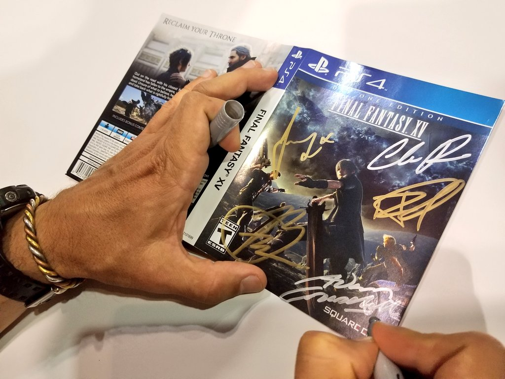 I present the first EVER game signed by all five of us.   Sorry for geeking out about this stuff but I think it's cool! https://t.co/3aVTEbg92n