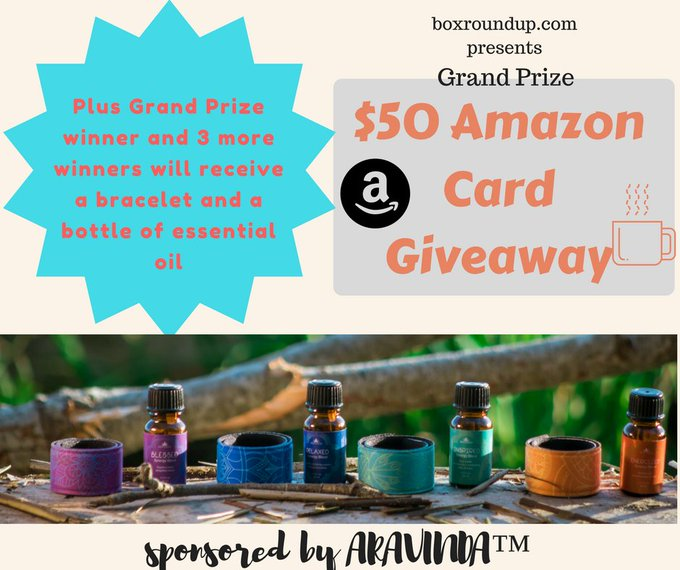 Aravinda Aromatherapy & $50 Amazon GC Giveaway