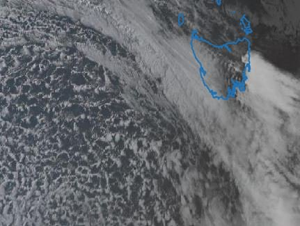 Cold front now crossing the west coast after...
