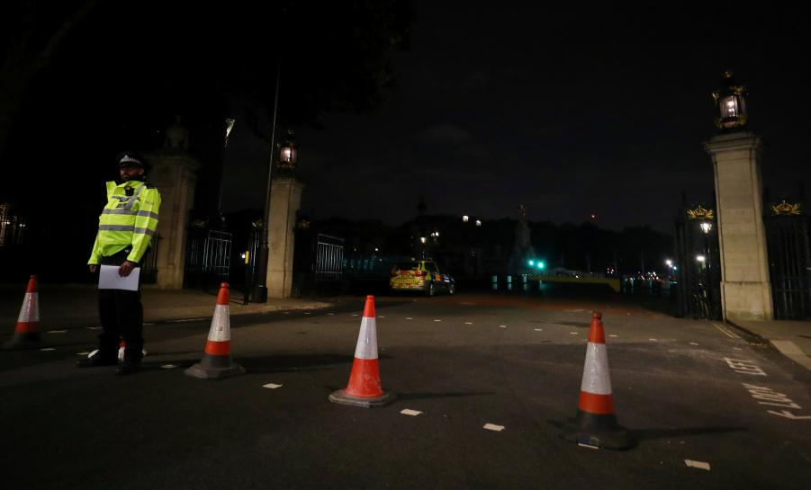 British counter-terrorism officials investigate armed man arrested near queen's palace