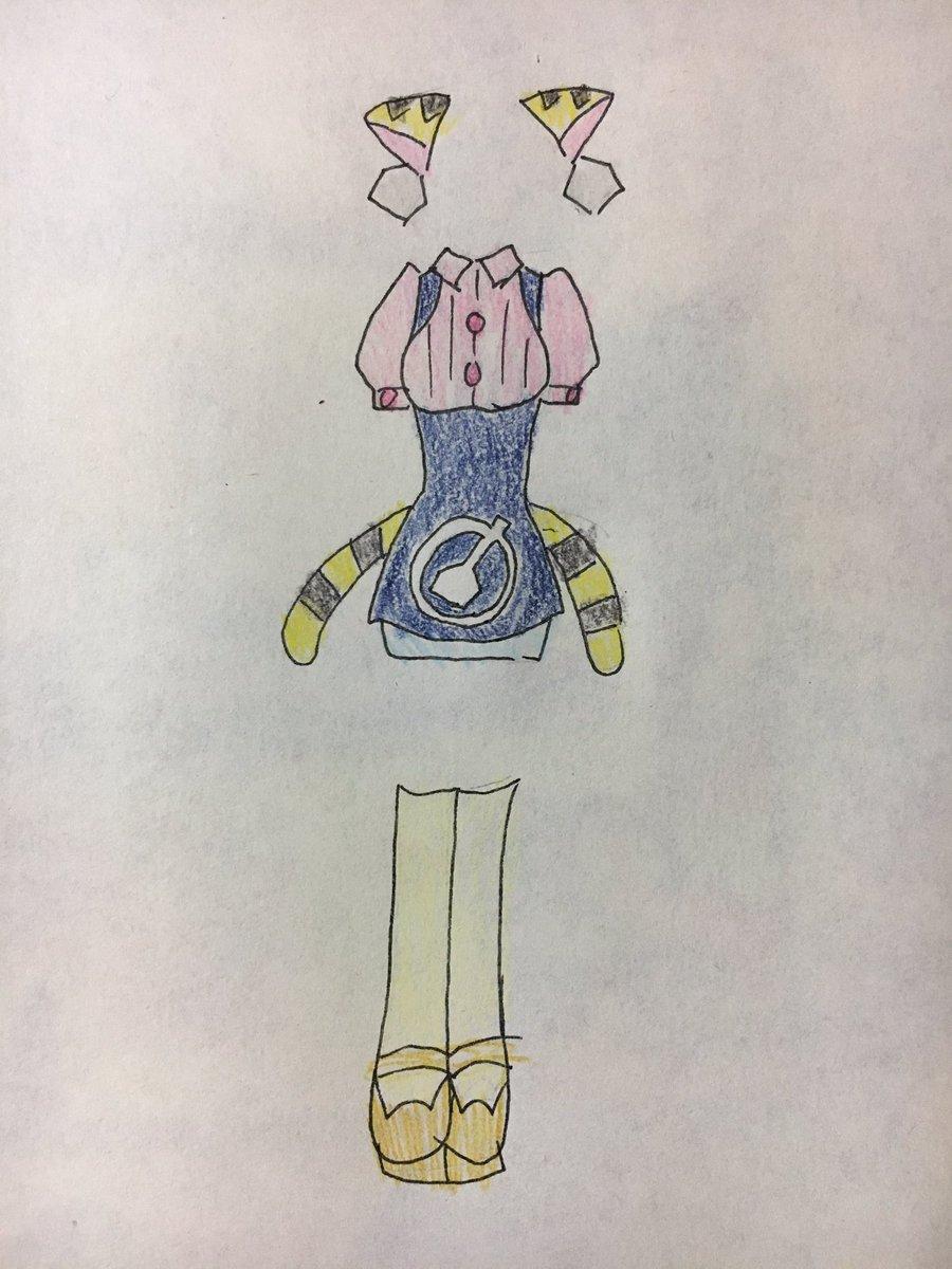 コノミちゃんの服をアンナミラーズ風にしてみた。 #ヒーローバンク #herobank