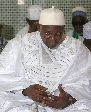 Gambia's new president leaves to perform Muslim pilgrimage