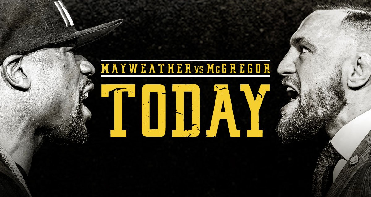 The time has come ...  #MayweatherMcGregor https://t.co/Mjg29ft1bd