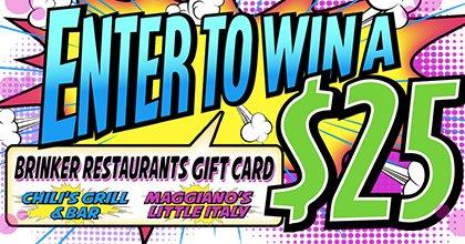 $25 Brinker Restaurants Gift Card