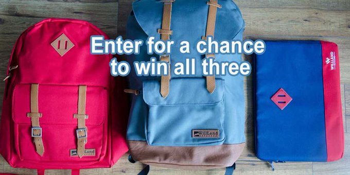 CONTEST: WillLand Outdoors back-to-school backpack contest