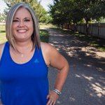 She started training to lose weight and get fit, but then later finished a triathlon