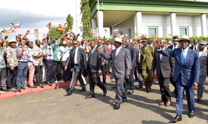 Museveni visits Equatorial Guinea's Port Bata