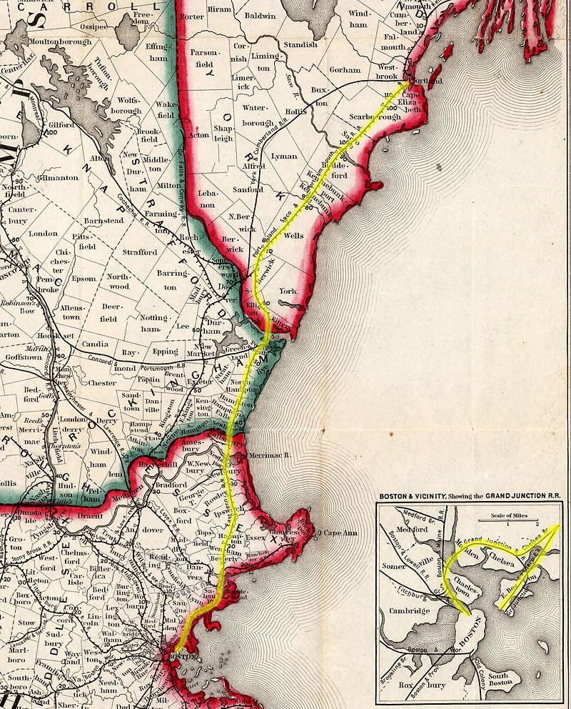 27AUG1838: First Section of #EasternRailroad opens for traffic from #Boston to #SalemMA; eventually connecting Boston to #PortlandMaine https://t.co/GZYYFBjF3q