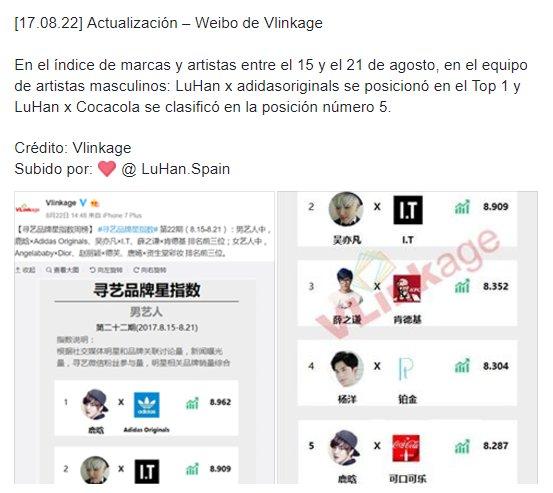 [17.08.22] Actualización – Weibo de Vlinkage #LuHan  https://t.co/SQSiAGbhXO Crédito: Vlinkage https://t.co/Nl9N6NhUVt