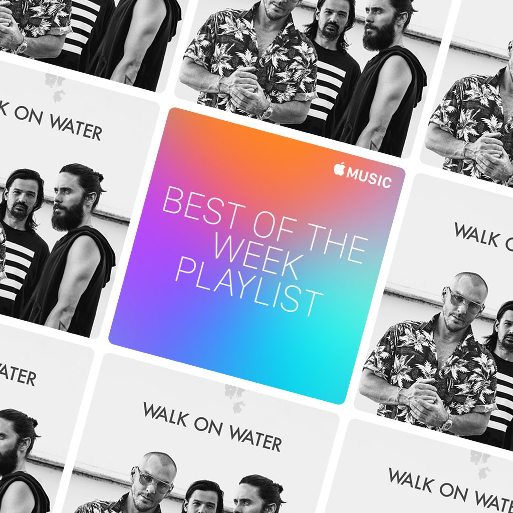 Check out @AppleMusic + listen to #WalkOnWater featured on the 'Best of the Week' playlist! https://t.co/GWHxRE3Blg https://t.co/3TS4AumPyO