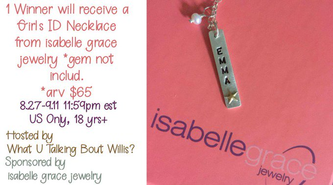 Enter to Win an isabelle grace Girl's ID Necklace (arv $65)