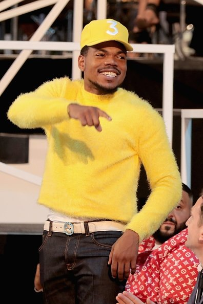 Chance The Rapper Wore A Yellow Spring 2018 Menswear Sweater To The