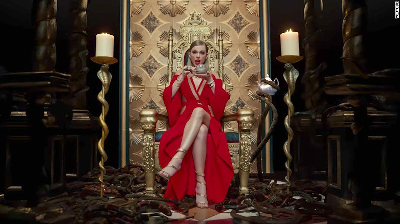 Taylor Swift's new music video takes swipes at her enemies -- and herself
