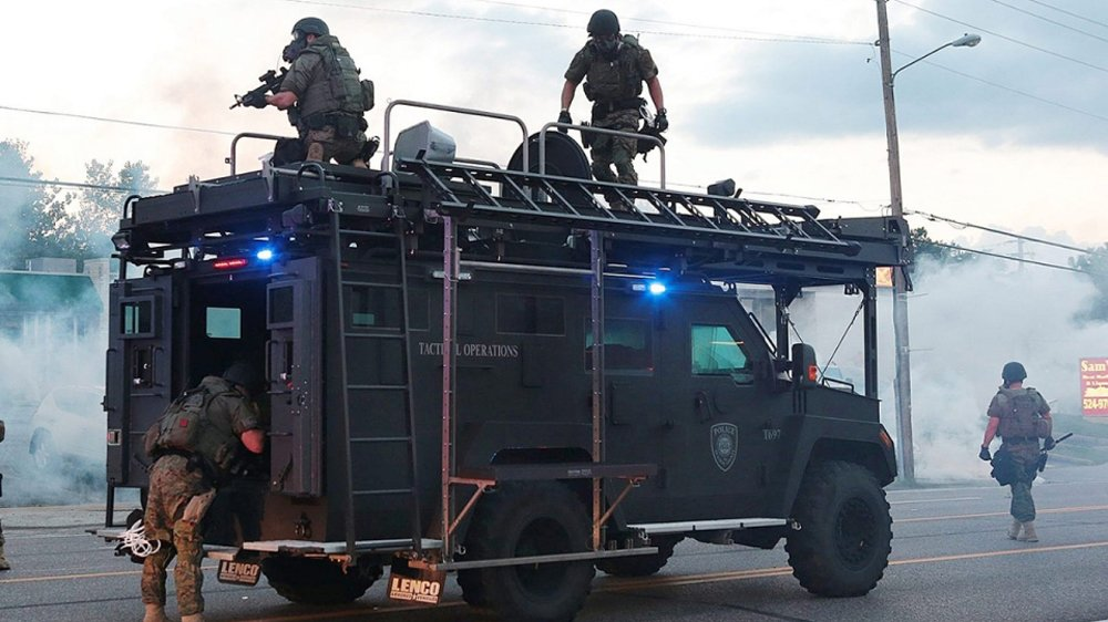 Activists slam Trump's plan to arm US police with military gear such as grenade launchers