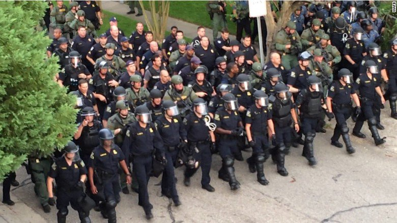 President Trump ends Obama-era rules on military gear for local police