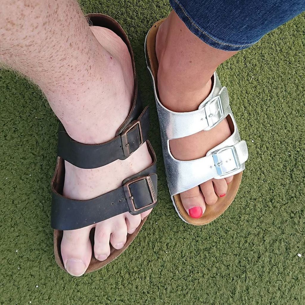 My wife, just like me but smaller and shinier #truelove #bestfriend #sandals. #prettyfeet https://t.co/oVk3ibuoWs https://t.co/1xhb4vk0xb