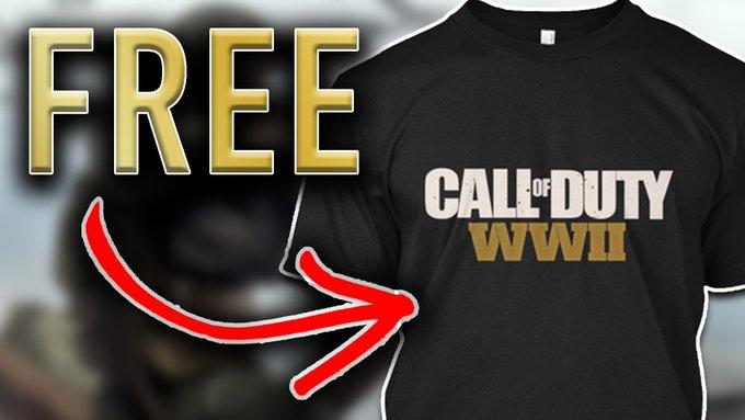 TheJoshWatson COD:WWII T-Shirt Giveaway