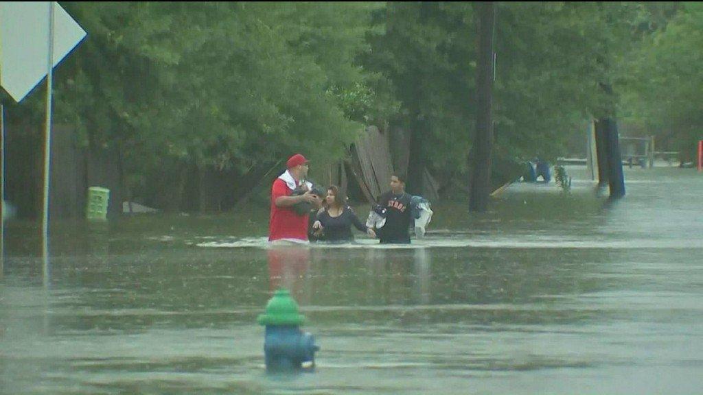 Houston area copes with heavy flooding as Harvey lashes the GulfCoast