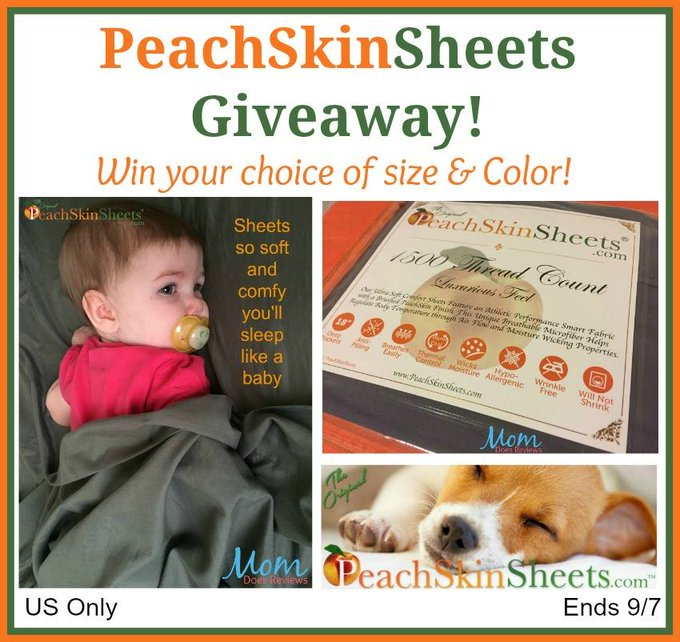 Peachskin Sheets GA-1-US (winners choice size and color)-Ends 9/7