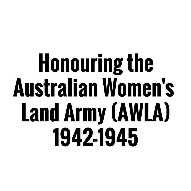 'The story of the Australian Women's Land Army...