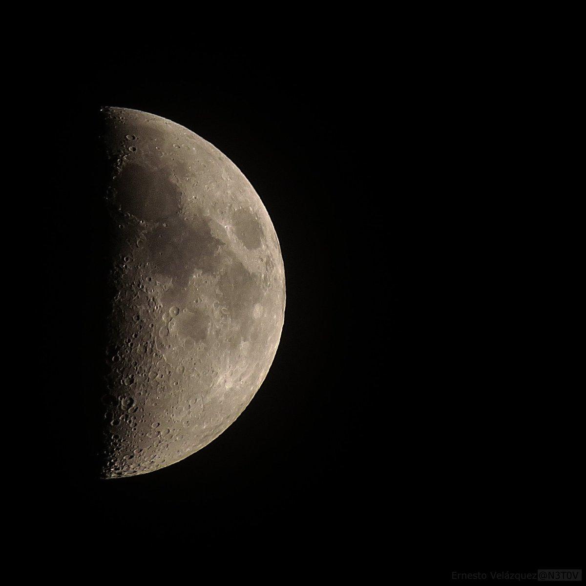 luna creciente iluminante, 48% iluminada. alcanzará la fase cuarto ...