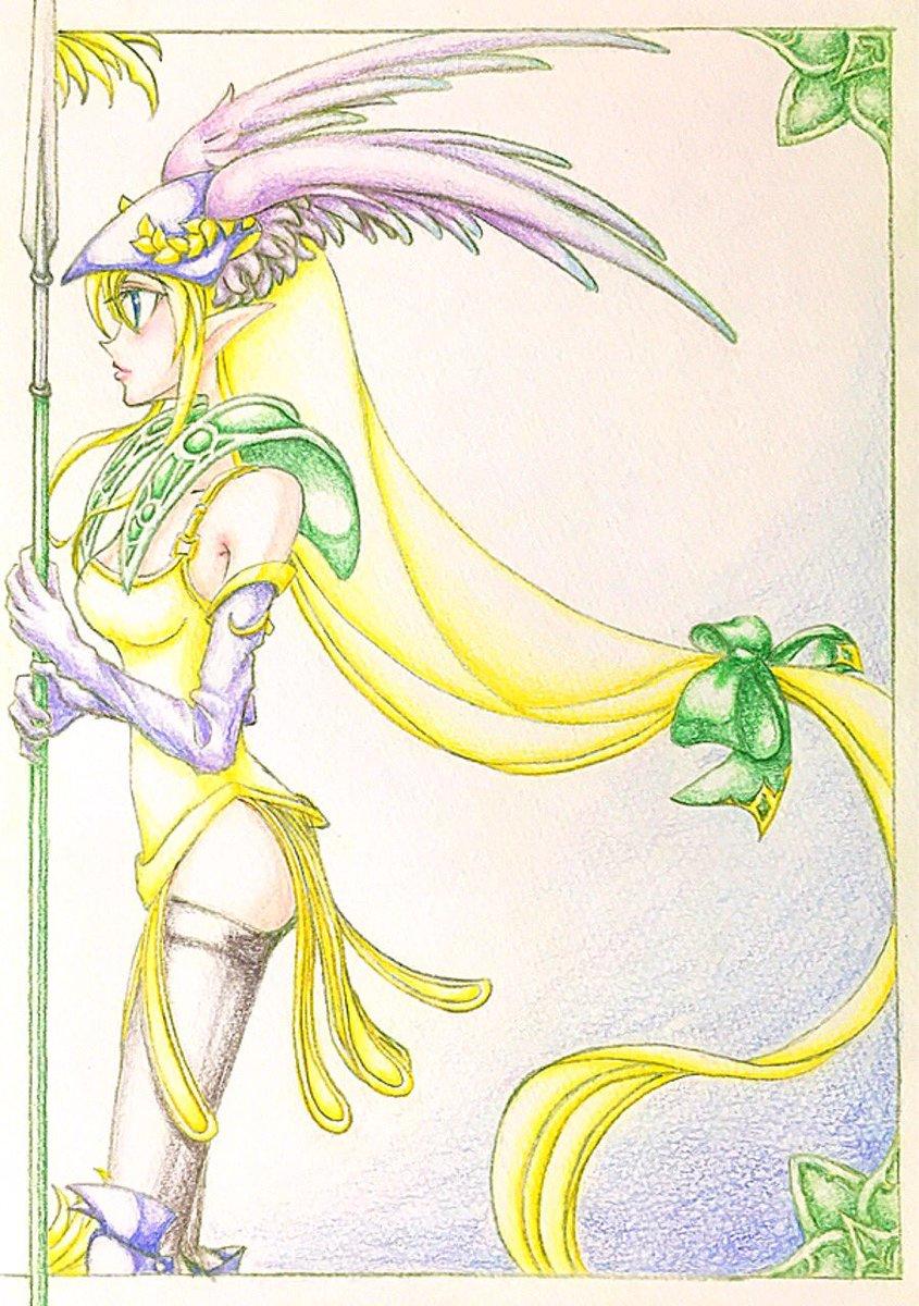 聖剣3よりリース(ヴァナディースver.)。ゲーム中でリースは女神像に似てるっていう女の子のセリフがあるんですが、ヴァナ