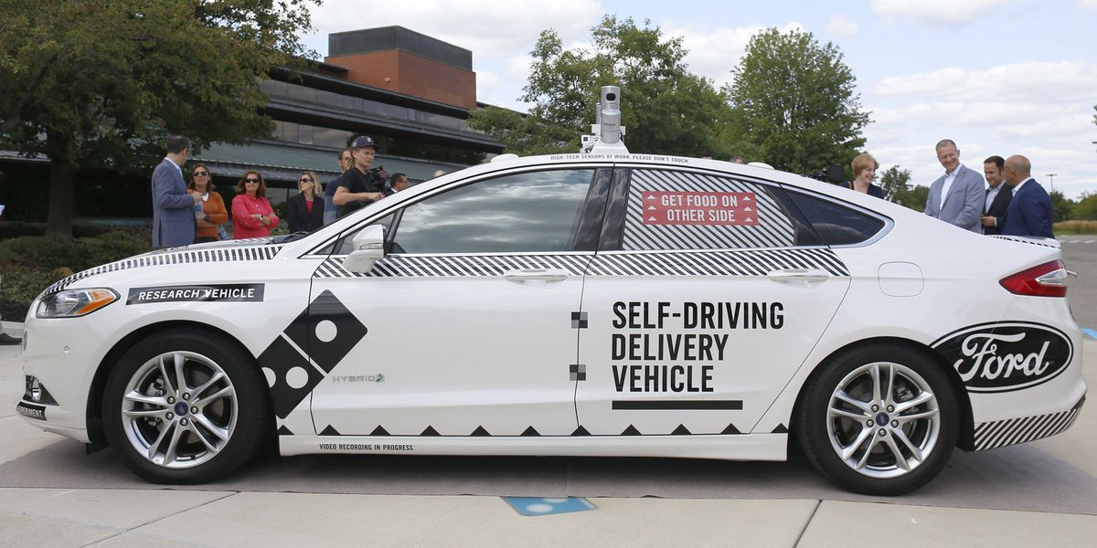 Domino's, Ford hope to learn from mishaps in tests for self-driving cars around Ann Arbor