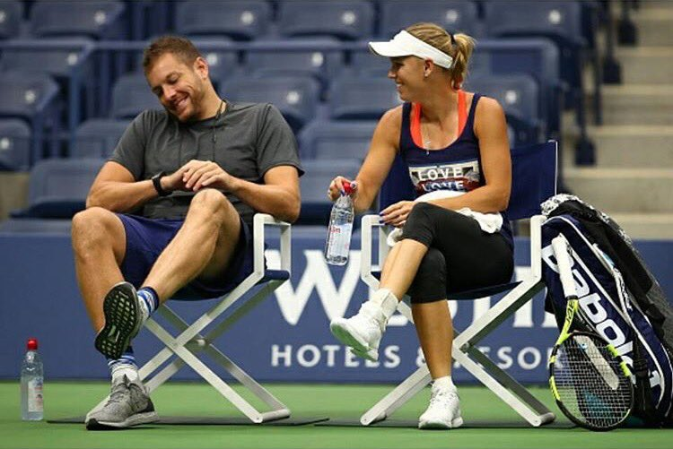 I must have said something funny���� Arthur Ashe stadium is a cool place to hang�� @usopen https://t.co/RyrtOD97iF